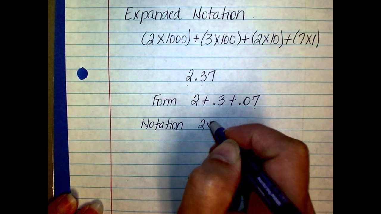 expanded form versus expanded notation  17th Grade Expanded Form vs Expanded Notation | Expanded form ...