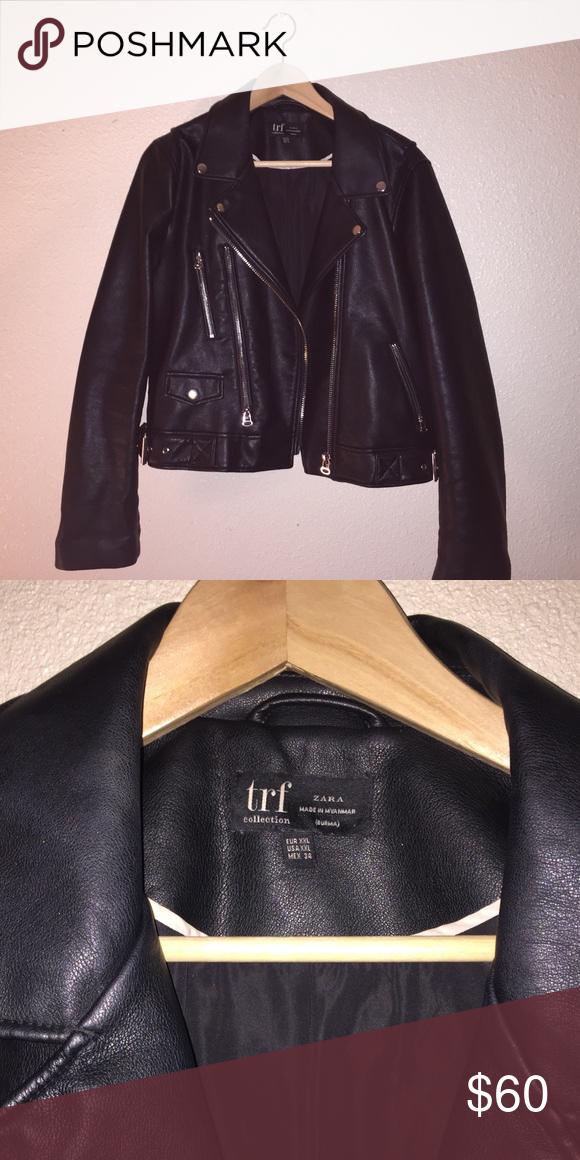 Leather jacket | Leather jacket, Zara leather jacket, Jackets