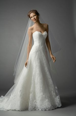 Watters Sweetheart A-Line Wedding Dress with Natural Waist in Lace. Bridal Gown Style Number:33092073
