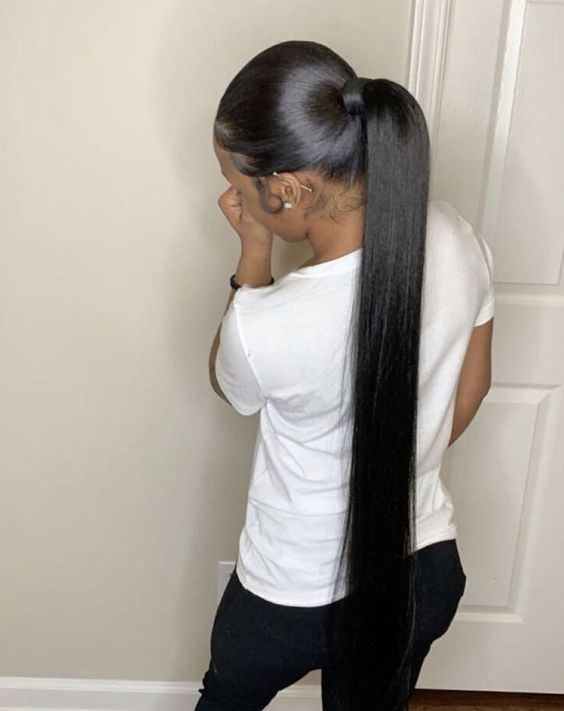 37 50 Brazilian Human Hair Straight Hair Queenlife Long Ponytail Hairstyles High Ponytail Hairstyles Hair Ponytail Styles