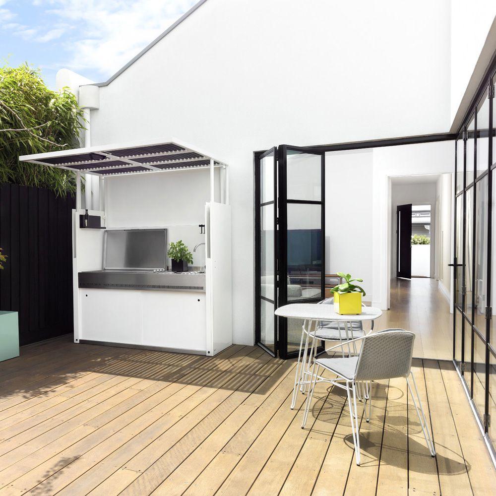 Northcote residence i tilt outdoor kitchen bbq i designed by urban