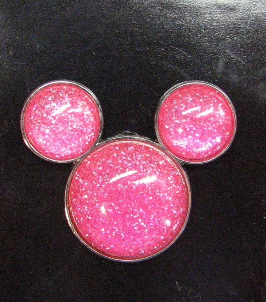 Disney Mickey Mouse Icon Pink Glitter Pin