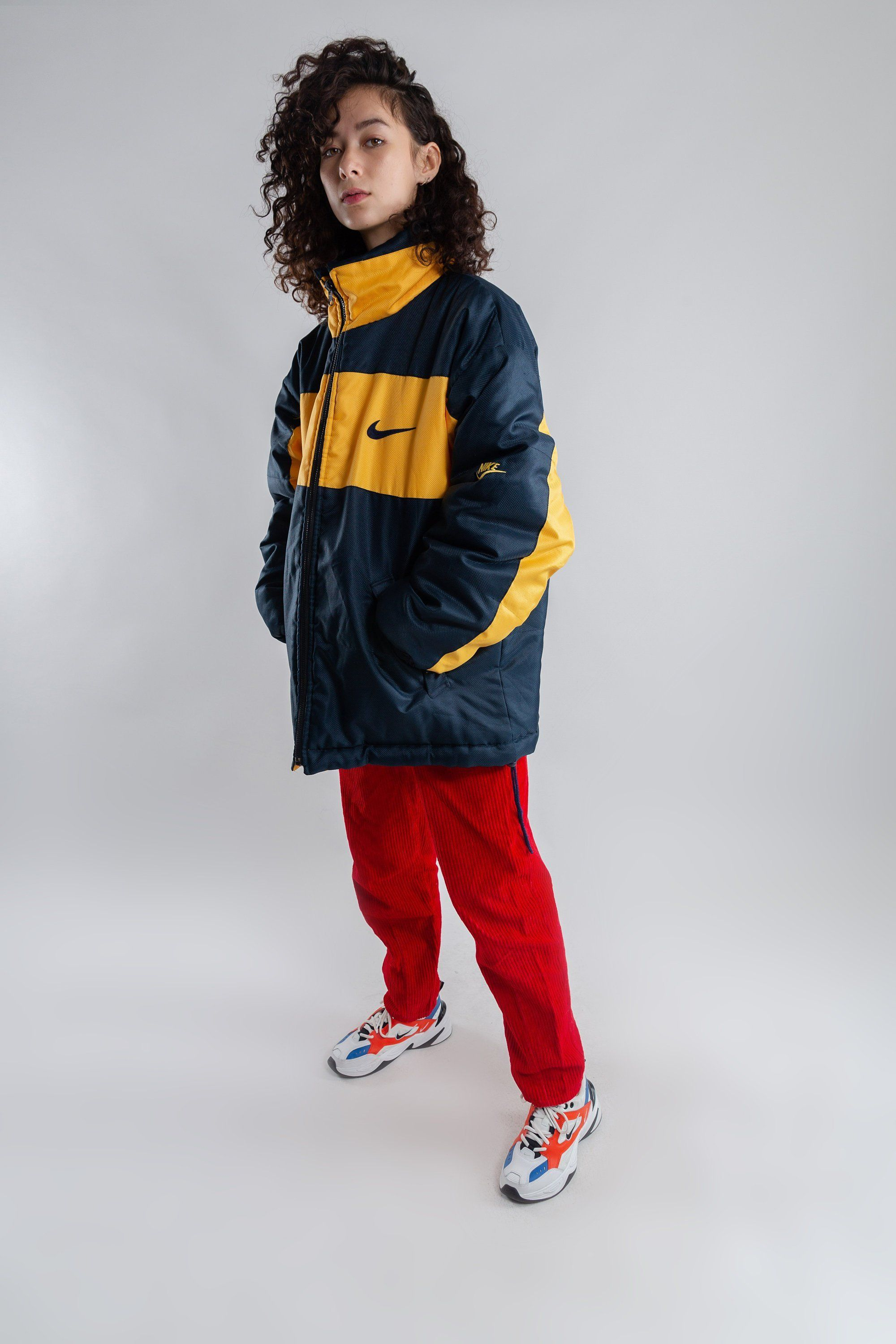 48795d8bd449 Blue and yellow oversized coach jacket   Vintage padded reversible jacket    Men s sports jacket   Woman s nineties sport jacket   Size XXL by LHITW on  Etsy ...