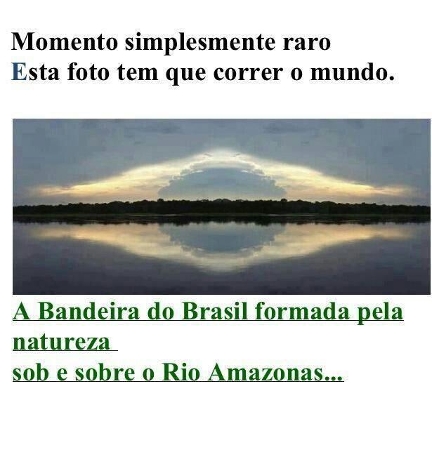 bandeira do Brasil, sob o rio Amazonas