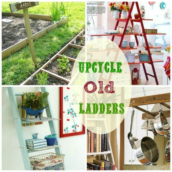 Fun ways to use old ladders in your home upcycling for Old wooden ladder projects