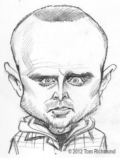 Jesse Pinkman Breaking Bad Caricature By Tom Richmond