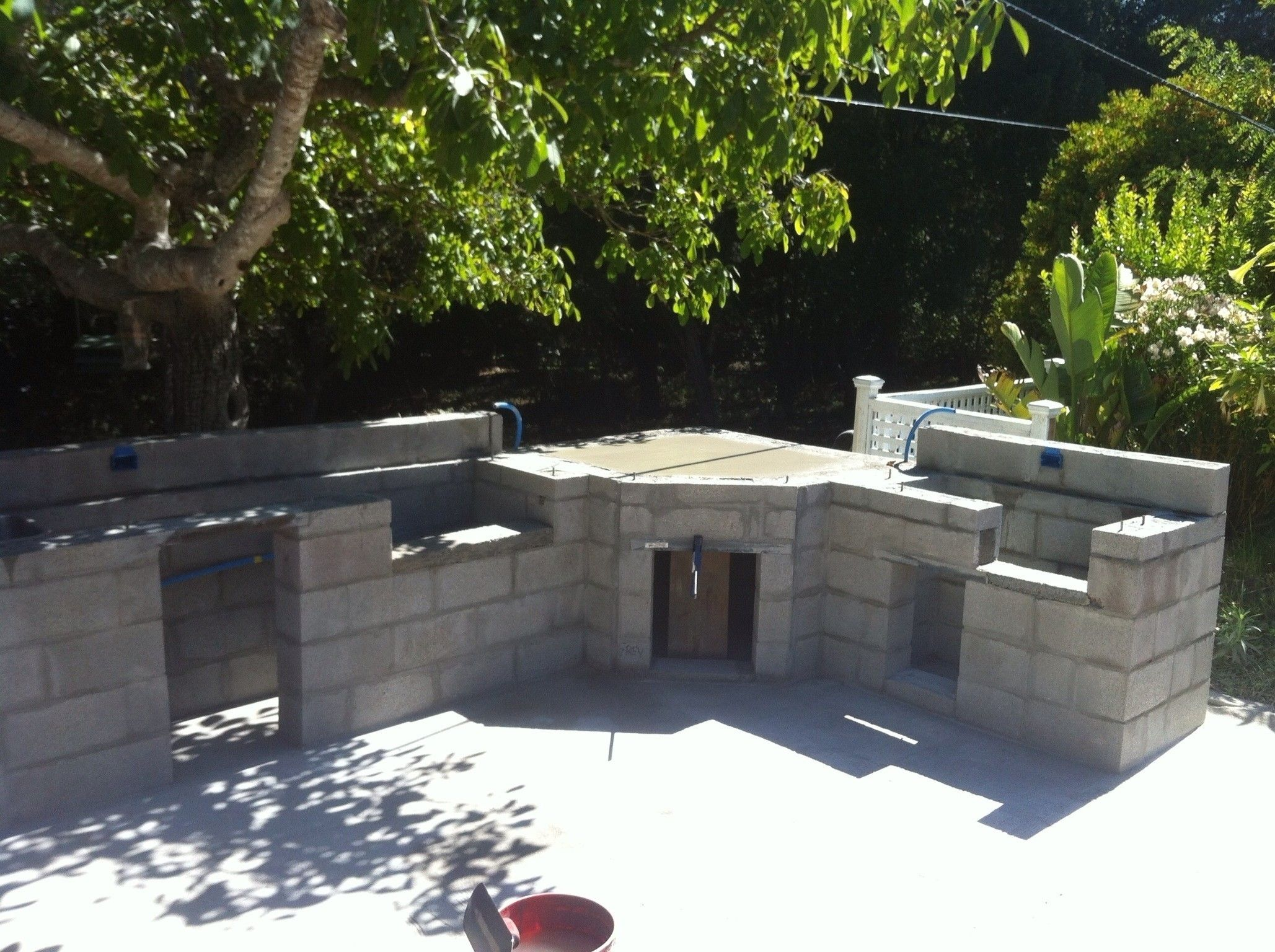 Image result for how to build an outdoor fireplace with ... on Cinder Block Fireplace Diy id=46171