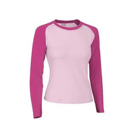 f49862781d Camiseta de mujer con manga larga y dos colores combinados. Referencia NIKA  Marca  Valento