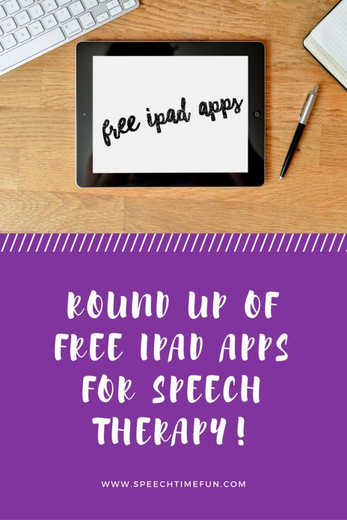 My Favorite Free iPad Apps To Use In Speech Therapy: work on a variety of speech and language goals and have tons of fun!