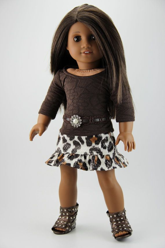 American+Girl+doll+clothes++Skirttop+and+belt+by+DolliciousClothes