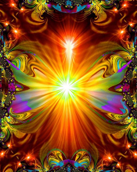 Abstract spiritual art reiki wall decor chakra energy - Decoracion reiki ...