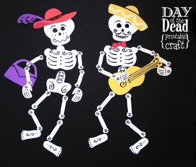 Day Of The Dead Printable Craft   TodaysMama.com