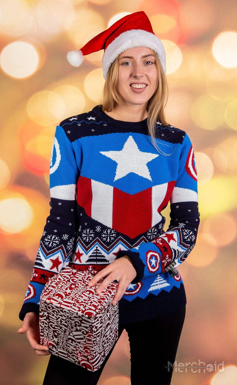 Captain America Red White And Blue Knitted Christmas