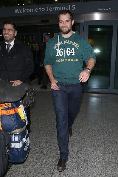 Henry Cavill arrives at Heathrow