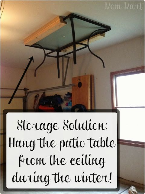 If You Re Blessed With A Patio And Garage Hang Outdoor Furniture From The Ceiling To Maximize E Easy Ways Get Your Home Ready For Winter