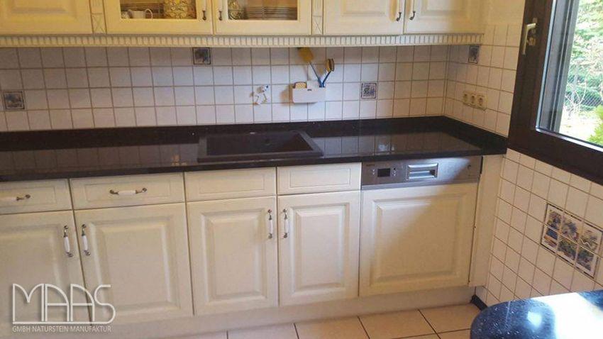 Aufmaß, Lieferung und Montage der #Star #Galaxy #Granit - arbeitsplatten granit küche