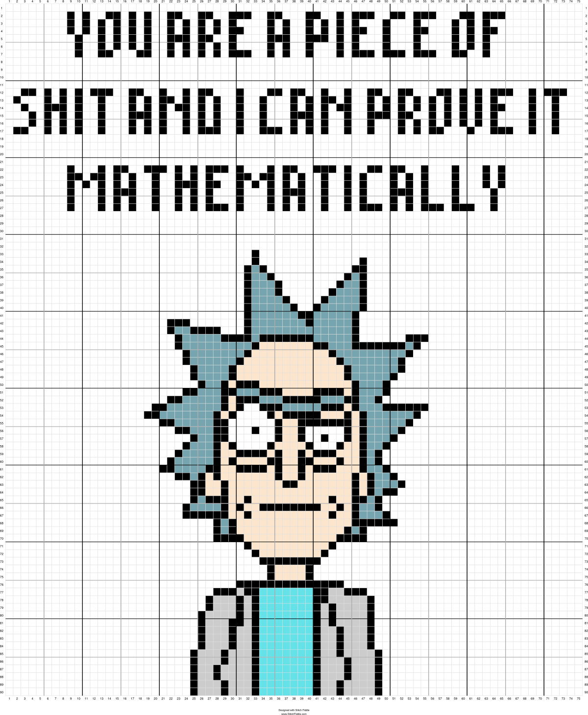 Rick and Morty | Graph Patterns | Cross stitch pattern maker, Cross