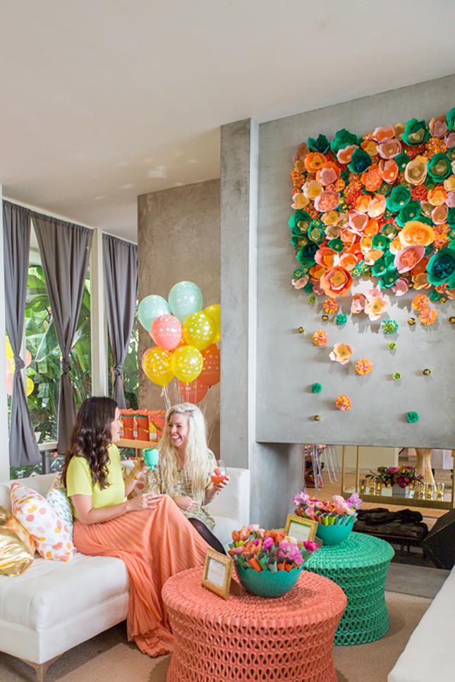 Modern Faux Flower Arrangements, beautiful decoration idea for women's room. #decor
