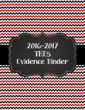 Teacher Key Effectiveness Evidence Binder Tkes Binder For 2016 2017