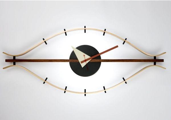 Auge Wanduhren-Design Ideen-Wohnzimmer Wandgestaltung