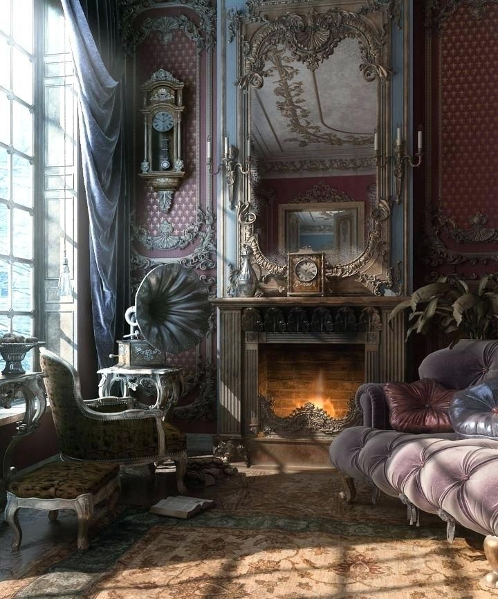 Victorian Homes Interiors, Steampunk Living Room