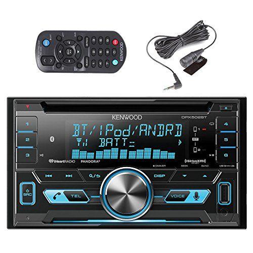 Kenwood DPX502BT 2-Din Bluetooth CD/MP3 Reciever with Metra