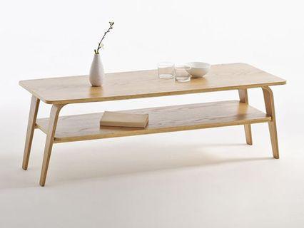 impressionnant table de salon en bois clair | décoration française