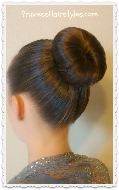 Dance bun hairstyle tutorial