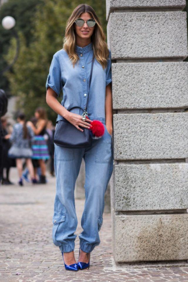 How To Wear Denim Jumpsuits Jean Denim Pinterest