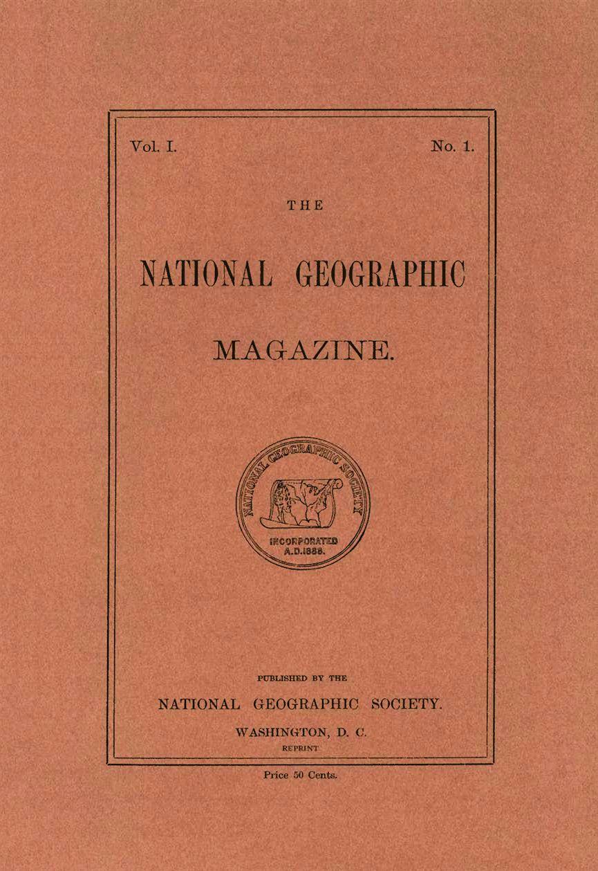 Primera portada National Geographic año 1888   Mantente informado ...