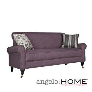 Angelo Home Harlow Purple Grape Twill Sofa Overstock