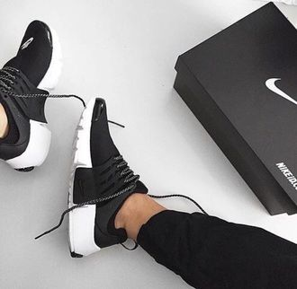 55b8effb7  100 Cute Spring Summer Black And White Nike Sneakers Shoe Trends ...
