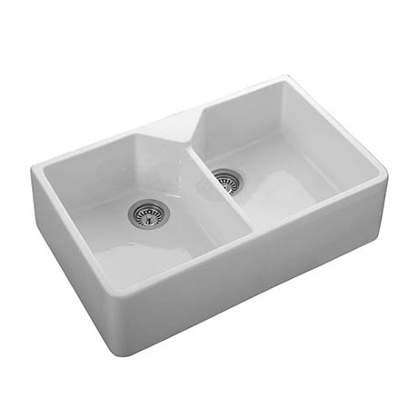 Rangemaster Double Bowl Belfast Kitchen Sink Ceramic Sinks With Images Ceramic Kitchen Sinks Ceramic Sink Sink