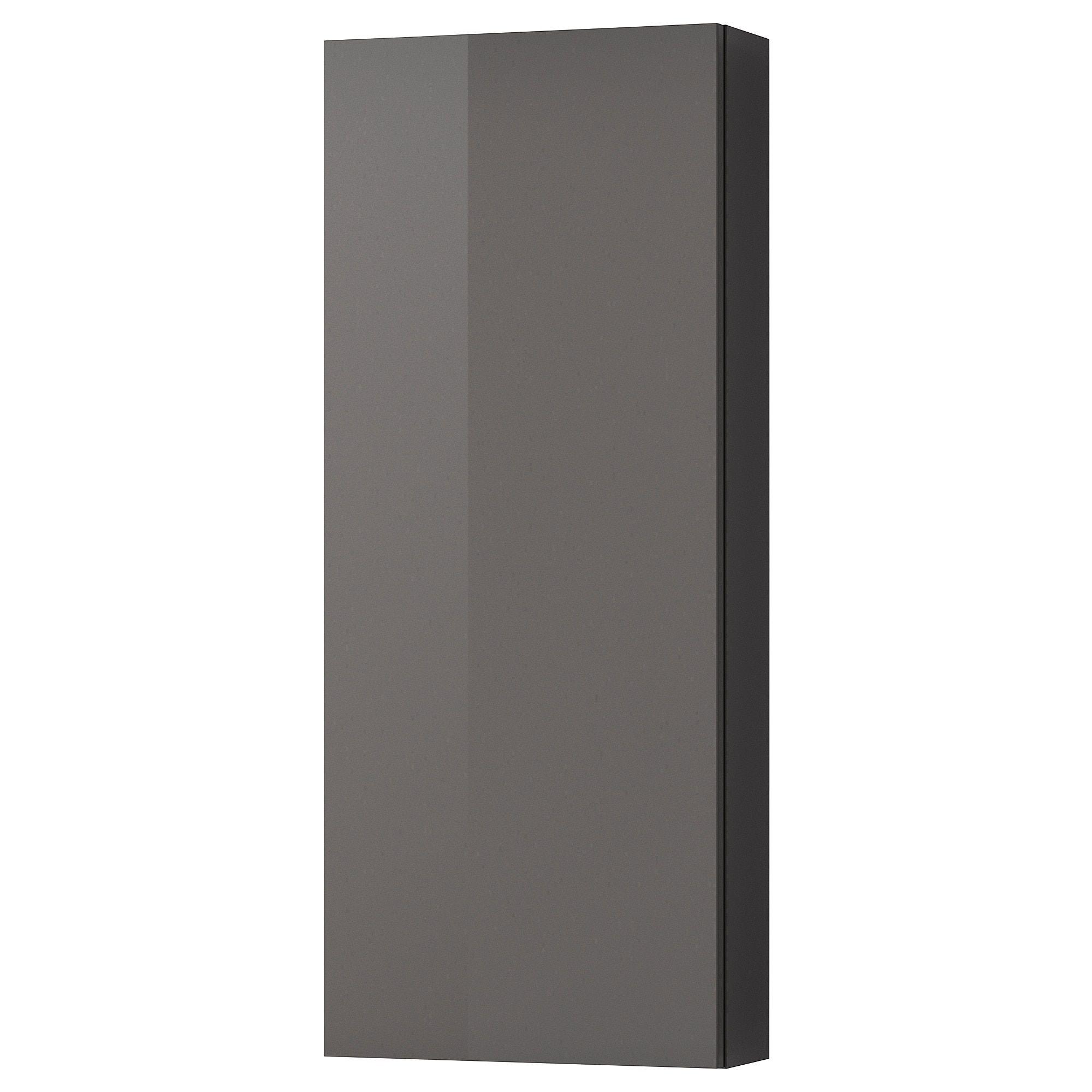 Ikea Godmorgon High Gloss Gray Wall Cabinet With 1 Door