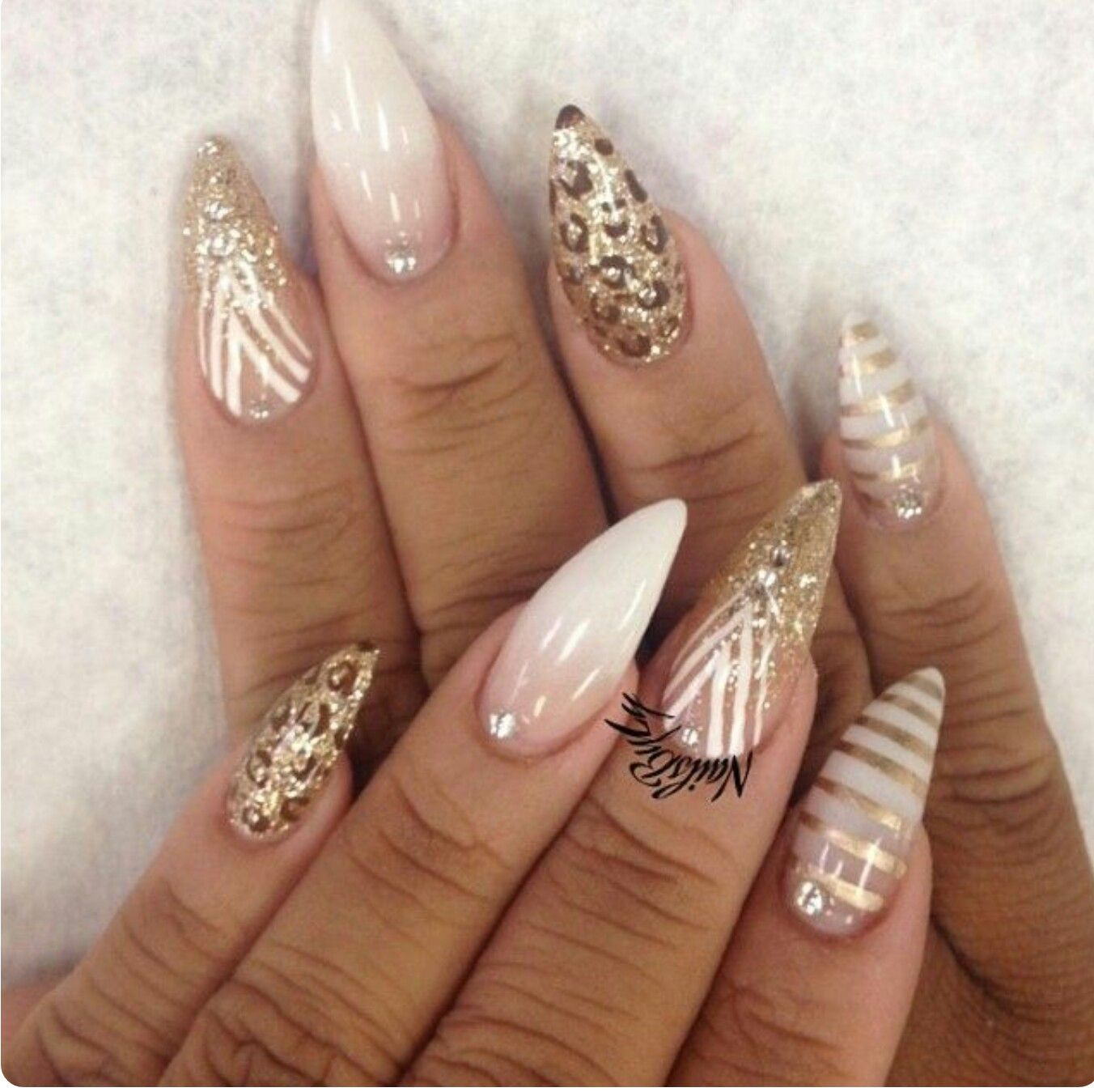 Discover Ideas About White Gold Nails