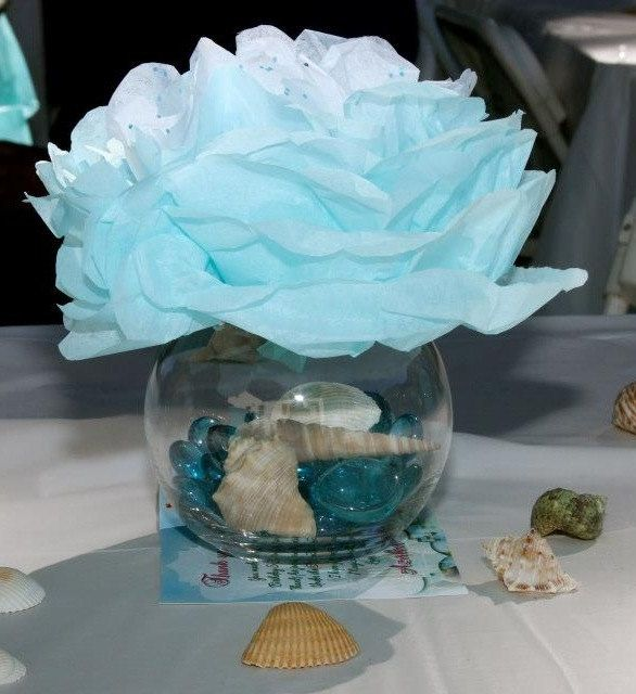 Little Mermaid Centerpiece Ideas Wedding: Mermaid Bridal Showers, Little
