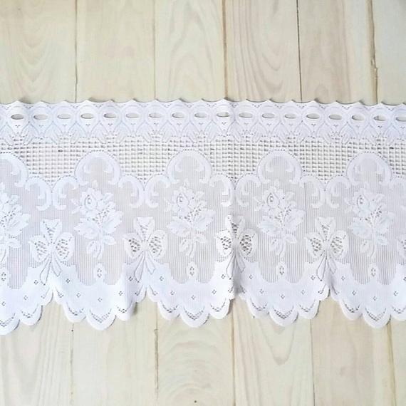 Large White Lace Window Curtains Vintage White Lace Window