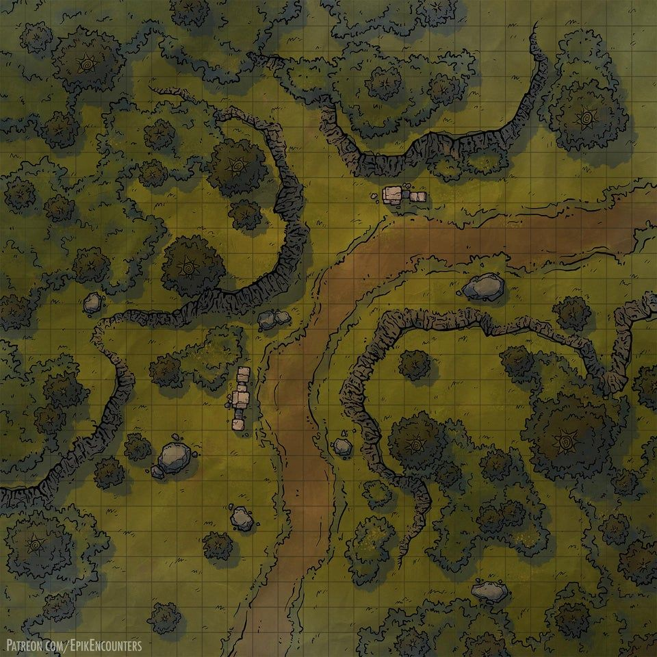 LMoP inspired Goblin Ambush map 20x20. Feel free to use this on ...