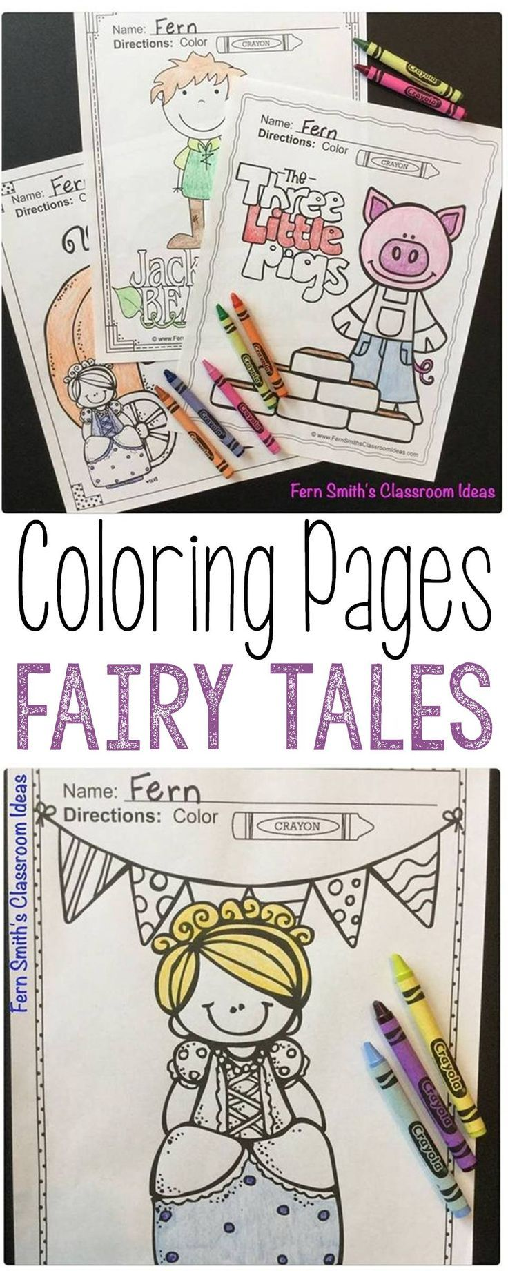 Fairy Tales Coloring Pages 42 Pages Of Fairy Tale Coloring Fun