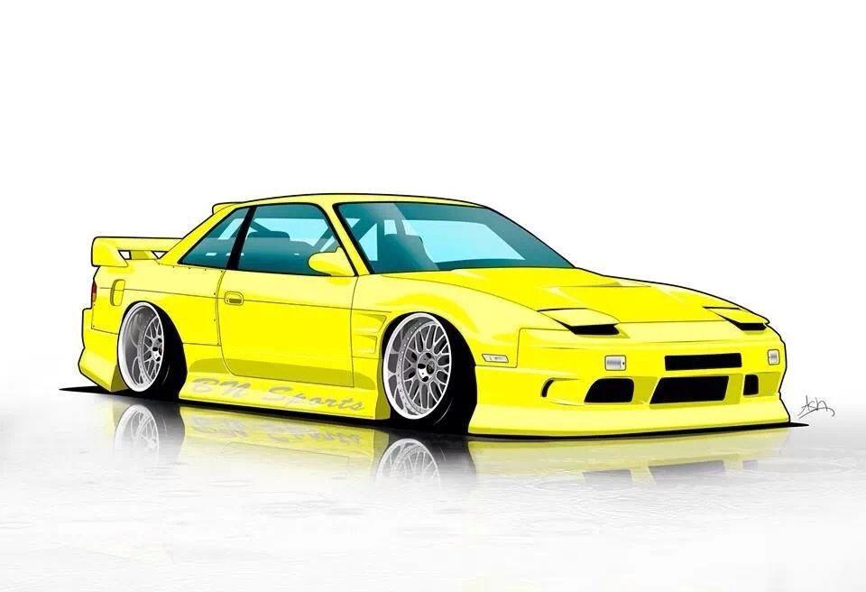 Nissan S13 | Art cars, Automotive artwork, Cool car pictures