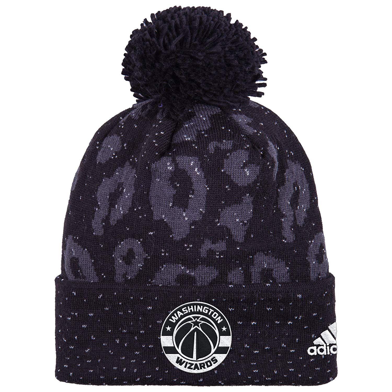 c63ba1bb146 NBA Washington Wizards Women s Black Out Print Cuffed Knit Beanie ...