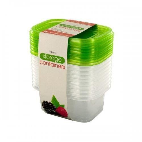 Kole OL629 Rectangular Stackable Food Storage Container Set Regular