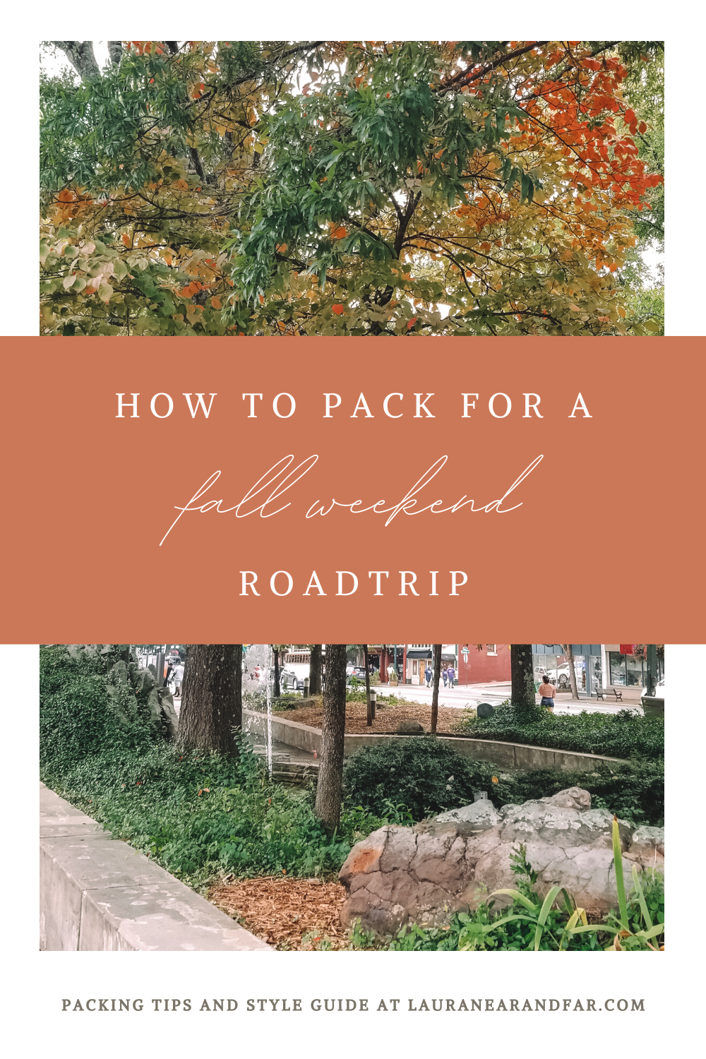 This guide to packing covers all the basics and a little extra. Everything you need for a weekend getaway this fall is outlined here! #fall #weekendgetaway #roadtrip