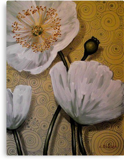 aa33adaae98 Buy 'White Iceland Poppies' by Cherie Roe Dirksen as a Poster, Throw  Pillow, Tote Bag, Art Print, Canvas Print, Framed Print, Photographic Print,  ...
