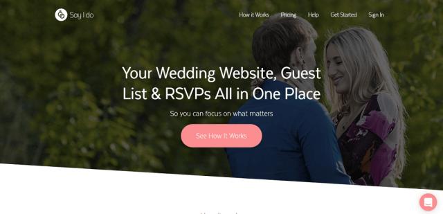 Say I Do Wedsite Wedding website builder, Wedding