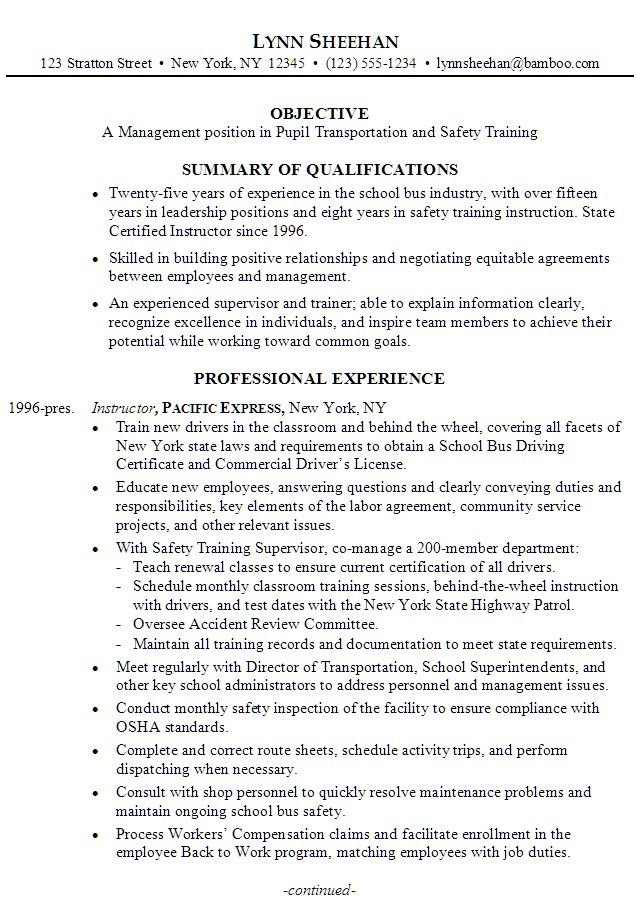 Pin by Beby Diamond on Resume Templates and CV Reference - trainer sample resume