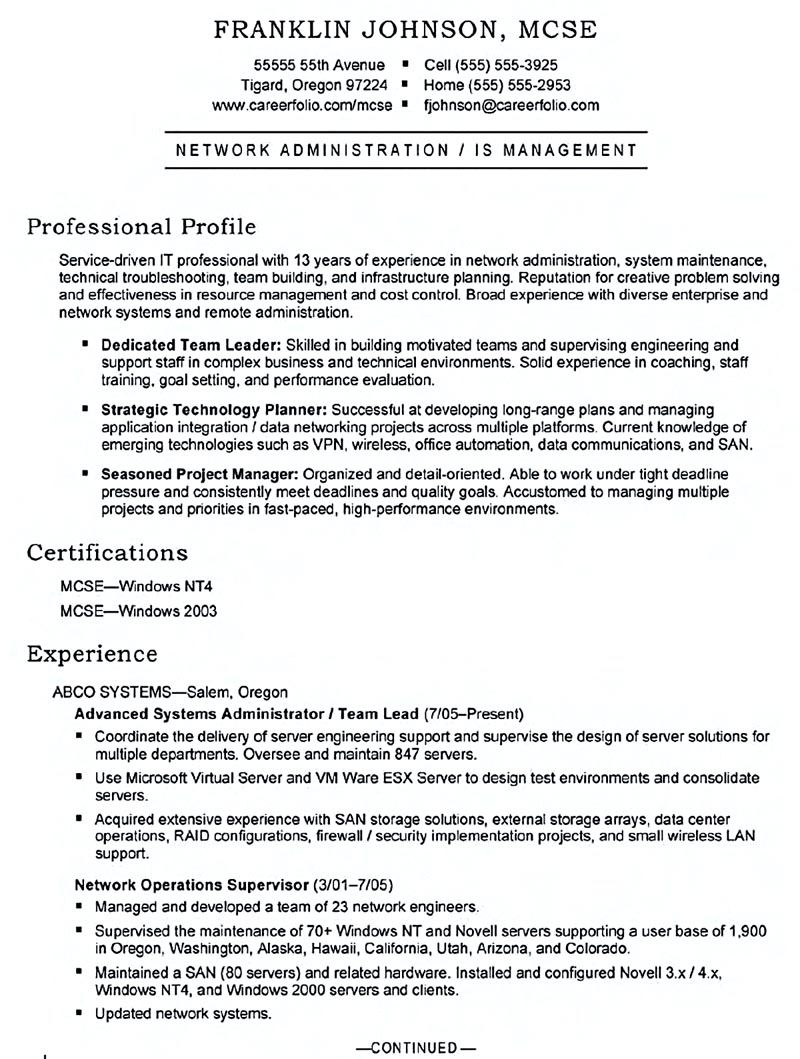 Good System Administrator Resume Includes A Snapshot Of The Skills Both  Technical And Nontechnical Skills Of System Administrator Including  Relevant Educat... ...