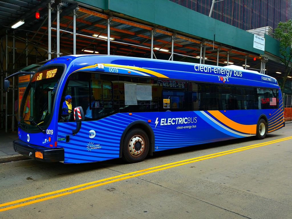 Nyc Mta Proterra Battery Electric Bus With Images New Bus
