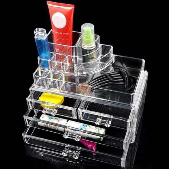 2Model Acrylic Cosmetic Organizer 3Layer Lipstick Holder Display Stand Clear Makeup Case Makeup is part of Makeup Drawer Organization - Promising Deals from PINkartUSA  2Model Acrylic Cosmetic Organizer 3Layer Lipstick Holder Display Stand Clear Makeup Case Makeup Organizer Storage Container   inPinKart, Use Only One Discount Code At A Time If You Have Multiple Discount Coupons, Can Be Tracked By USPS  60 Days Money Back Guaranteed  Free Shipping Starts From As Low As $5 00  Type Storage Boxes & BinsLattice Quantity 12Technics GlossyMaterial PlasticUse JewelryBrand Name SANGEMAMAStyle ModernShape SquareProduct Jewelry BoxFeature EcoFriendlyModel Number Cosmetic OrganizerCapacity 3 56LSpecification 24 x 13 5 x 11cmPlastic Type AcrylicSize Approx  24 x 13 5 x 11cmMaterial AcrylicColor  As picture showMultiple compartments and drawers  Heaps of storage space Always create an account for the better shopping experience, You can expect & experience online support to personalize the buying experience with price match options, customized gift cards with special discounts, hasslefree returns  We Assure Your Shopping Experience With Promising Deals (Promsdl LLC), Privacy In High 'McAfee' Data Security  Also Experience Our Multichannel Sales In Email, Facebook & Twitter By Following Our Social Network In The Footer Section