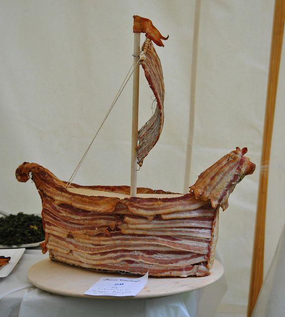 Bacon Viking Ship Subtlety - 2014 Trial by Fire & Lochmere Arrow 217 by Wanda Ostojowna SCA Pictures, via Flickr
